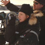Sarah Polley (director) and Luc Montpellier (DOP) on the set of Away From Her
