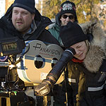 Director Sarah Polley behind the camera on the set of Away From Her